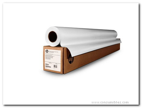 PAPEL INYECCION DE TINTA BLANCO 610 MM X 45,7M 90GR 120NR HP