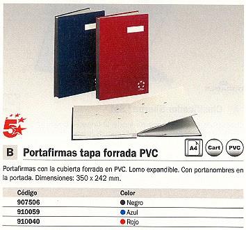 5 ESTRELLAS PORTAFIRMAS A4 20 POSICIONES AZUL 910059