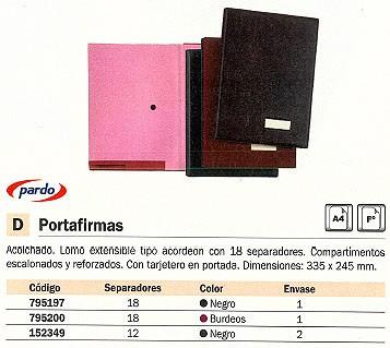 PARDO PORTAFIRMAS 335X245 MM 18 SEPARADORES NEGRO 875 N