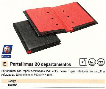 IBERPLAS PORTAFIRMAS 20 DEPARTAMENTOS 340X245 NEGRO 640DU00