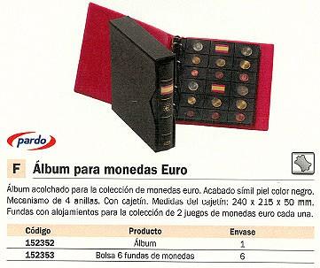 PARDO FUNDAS MONEDAS 6 UD PARA EURO 75500