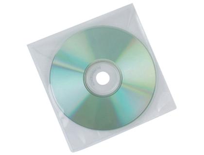 Fundas para memorias USBs SOBRE PARA CD Q-CONNECT POLIPROPILENO CON SOLAPA -PACK DE 50 UNIDADES