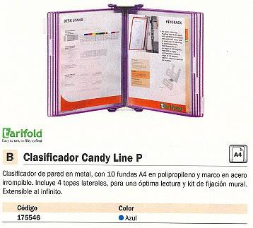 TARIFOLD CLASIFICADORES PARED CANDY LINE P 10 FUNDAS A4 AZUL 414171