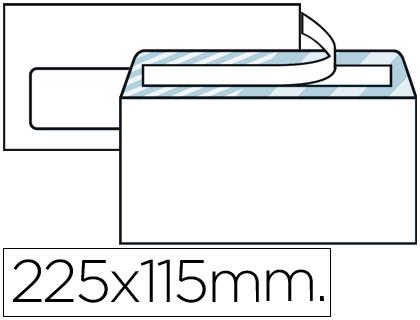 Sobres de papel SOBRE LIDERPAPEL N.6 BLANCO AMERICANO VENTANA IZQUIERDA 115X225 TIRA DE SILICONA OPEN SYSTEM CAJA DE 500 UNIDAD