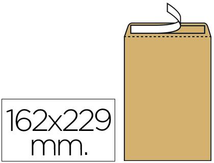 Sobres bolsas de papel LIDERPAPEL BOLSA N.5 KRAFT DIN C5 162X229 MM TIRA DE SILICONA CAJA DE 500 UNIDADES