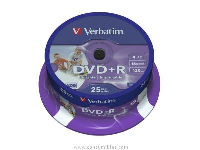 Comprar DVD+R 43500 de Verbatim online.
