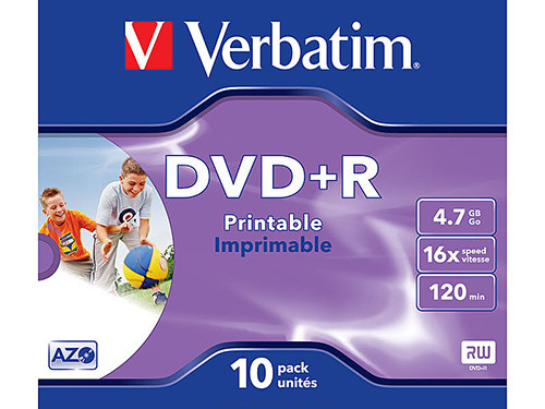 VERBATIM DVD+R ADVANCED AZO CAJA 10 16X 4.7GB 43508