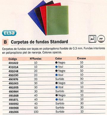 Comprar Carpetas fundas tapa flexible 490968(1/30) de Elba online.