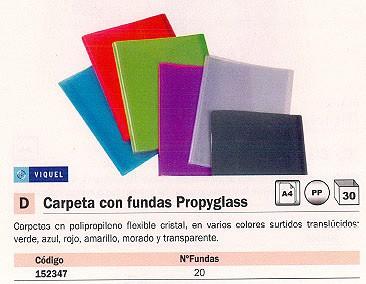 VIQUEL CARPETAS FUNDAS PROPYGLASS 20 FUNDAS COLORES SURTIDOS 04408309