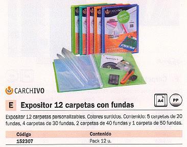 CARCHIVO EXPOSITORES 12 UD VARIOS TAMAÑOS COLORES SURTIDOS 8125KE