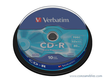 CD-R DATALIFE EXTRA PROTECTION BOBINA PACK 10 UD 52X 700MB 80MIN 43437