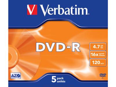 VERBATIM DVD+R ADVANCED AZO PACK 5 16X 4.7GB 43519