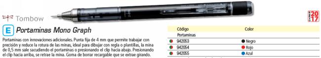 TOMBOW BLISTER PORTAMINAS MONO GRAPH NEGRO SH MG11 BS