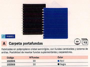 VIQUEL CARPETAS FUNDAS 30 FUNDAS NEGRA 040905-05