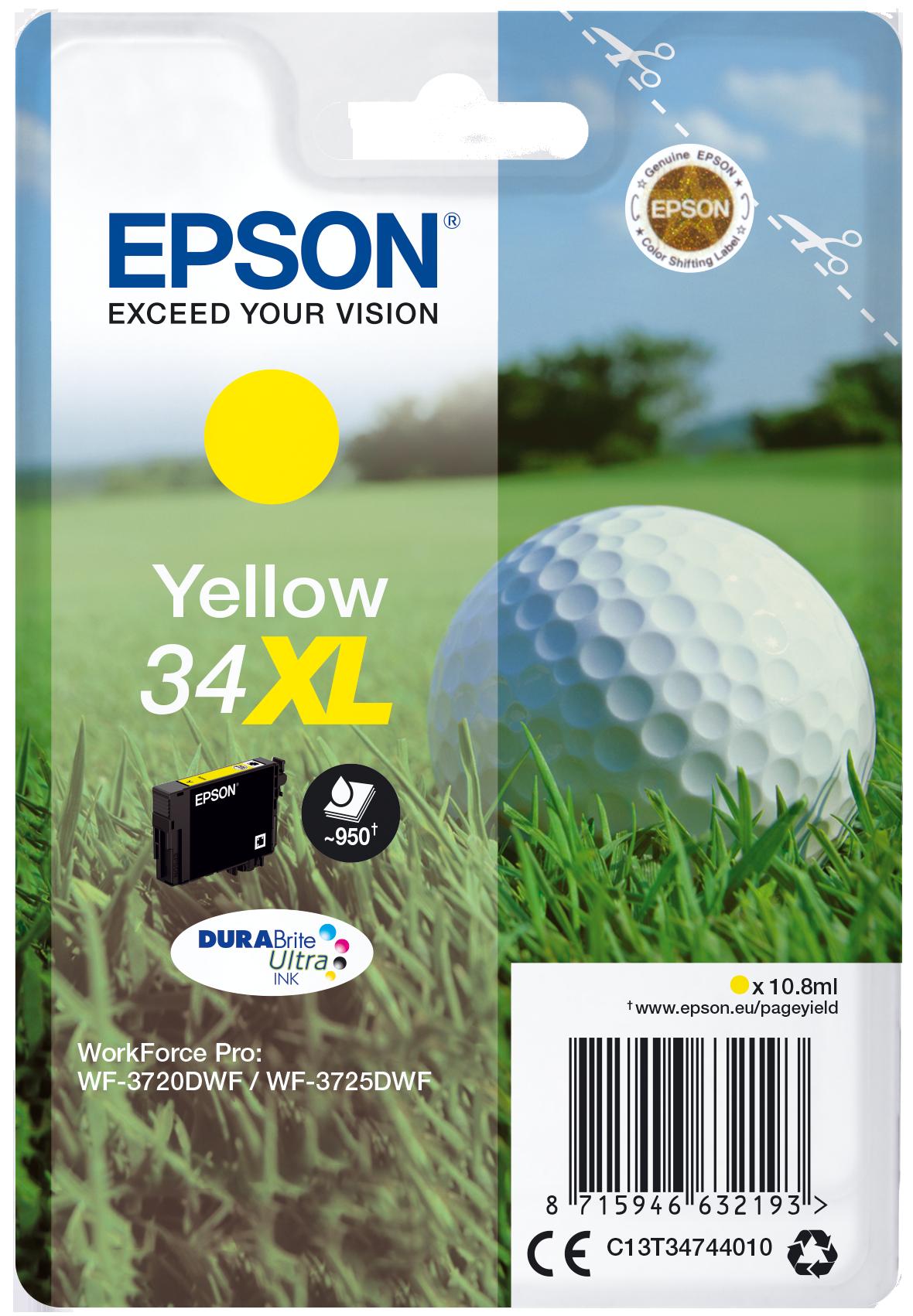 Comprar Cartucho de tinta C13T34744020 de Epson online.
