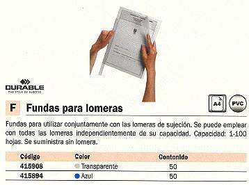 DURABLE FUNDAS 50 UD A4 TRANSPARENTE 415908