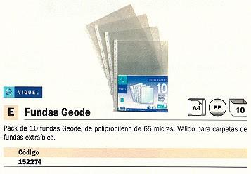 VIQUEL FUNDAS GEODE 10 UD 65 MICRAS POLIPROPILENO 11501012