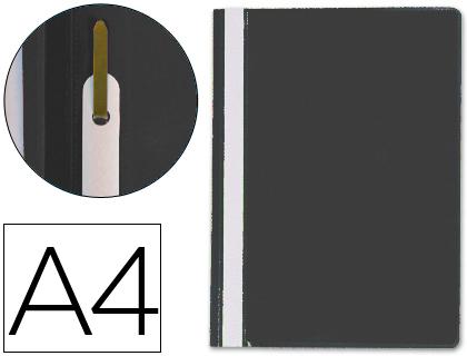 Dossiers ENVASE DE 25 UNIDADES CARPETA DOSSIER FASTENER PLASTICO Q-CONNECT DIN A4 NEGRA