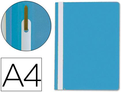 Dossiers ENVASE DE 25 UNIDADES CARPETA DOSSIER FASTENER PLASTICO Q-CONNECT DIN A4 AZUL