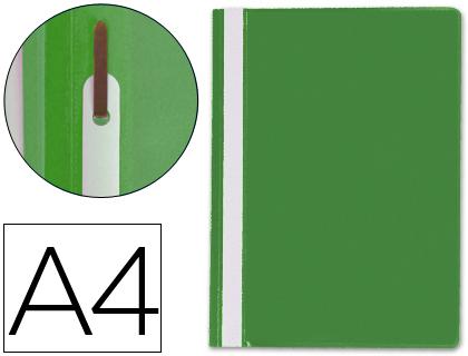 Dossiers ENVASE DE 25 UNIDADES CARPETA DOSSIER FASTENER PLASTICO Q-CONNECT DIN A4 VERDE