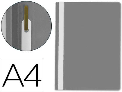 Dossiers ENVASE DE 25 UNIDADES CARPETA DOSSIER FASTENER PLASTICO Q-CONNECT DIN A4 GRIS