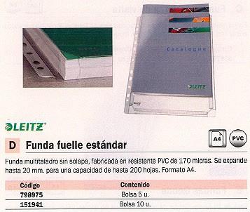ESSELTE FUNDAS 10 UD A4 MULTITALADRO 47561003