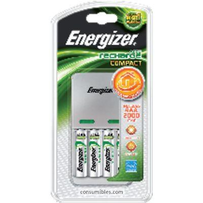 Cargadores pilas ENERGIZER CARGADOR PILAS COMPACT AA/AAA 4 PILAS NIVEL DE CARGA 635043