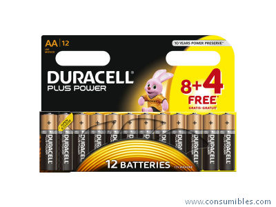 DURACELL PILAS ALCALINAS PLUS POWER PACK 12 UD AA LR06 394017863