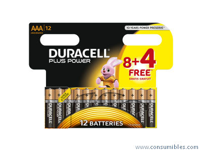 Alcalinas DURACELL PILAS ALCALINAS PACK 12 UD AAA LR03 12 UD 394050891