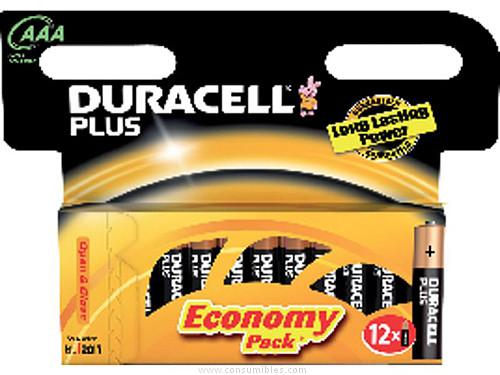DURACELL PILAS ALCALINAS PACK 12 UD AAA LR03 12 UD 394050891