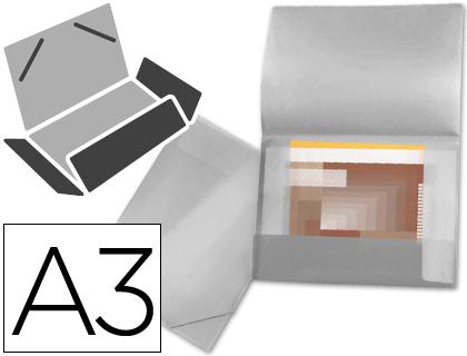 Carpeta portadocumentos BEAUTONE CARPETA BEAUTONE PORTADOCUMENTOS 44804 SOLAPAS POLIPROPILENO DIN A3 INCOLORA -SERIE FROSTY -LOMO FLEXIBLE