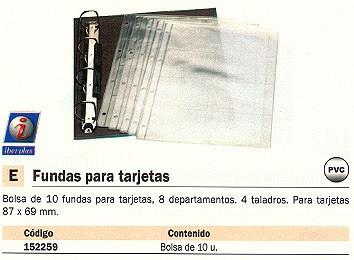 IBERPLAS FUNDAS TARJETAS 10 UD 87X69 MM 448N1