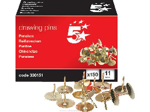 Chinchetas 5 STAR CHINCHETAS COBREADAS CAJA 150 UD 11 MM 330151