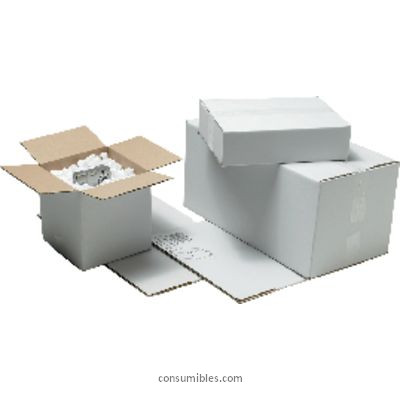 Cajas de embalaje ENVASE DE 5 UNIDADES UNIPAPEL CAJA EMBALAJE PACK 5 UD 330X230X280 BLANCA 332328