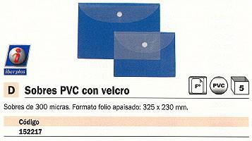 ENVASE DE 5 UNIDADES IBERPLAS SOBRE PVC FOLIO APAISADO CON VELCRO 278FLV10