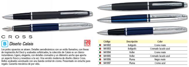 CROSS BOLÍGRAFO CALAIS CROMO Y LACA AZUL TRANSLÚCIDA. TINTA NEGRA. AT0112-3