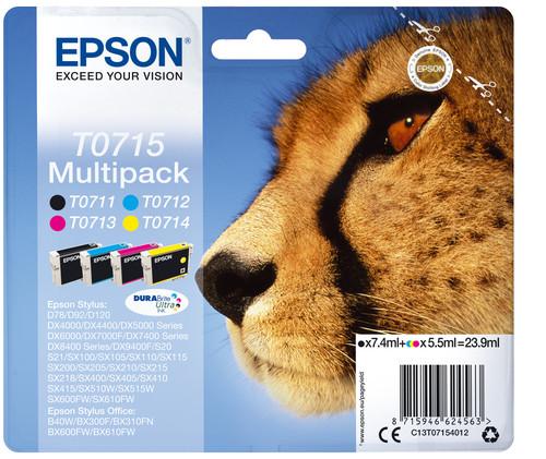 Comprar Pack 2 cartuchos de tinta C13T07154012 de Epson online.