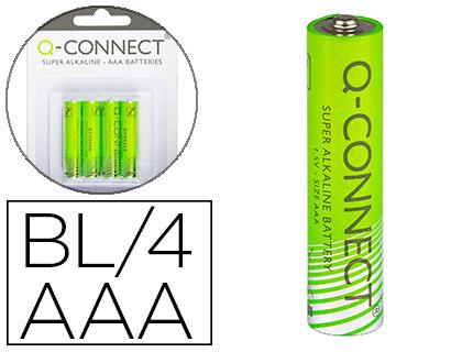 Pilas alcalinas PILA Q-CONNECT ALCALINA AAA -BLISTER CON 4 PILAS