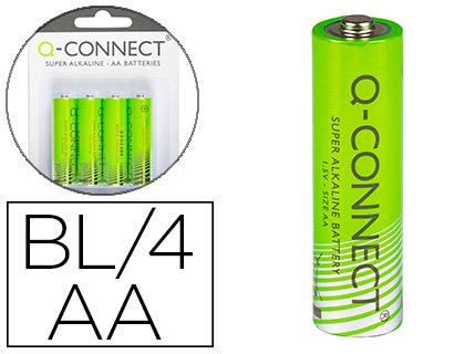 Pilas PILA Q-CONNECT ALCALINA AA -BLISTER CON 4 PILAS