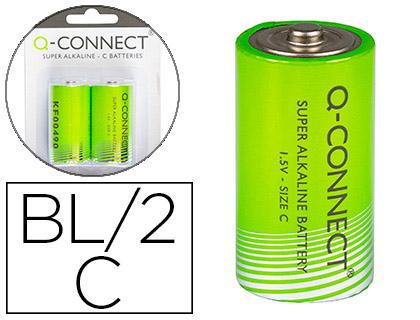 Pilas alcalinas PILA Q-CONNECT ALCALINA C -BLISTER CON 2 PILAS