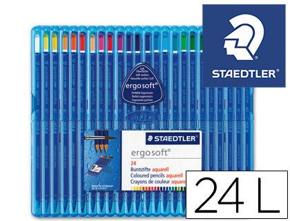 Lapices de colores LAPICES DE COLORES STAEDTLER ERGOSOFT ACUARELABLE ESTUCHE 24 COLORES