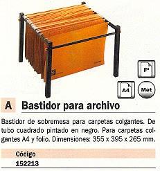 KAPLAN BASTIDOR ARCHIVO CARPETAS COLGANTES 355X395X265 SOBREMESA C/S