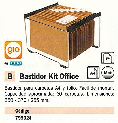 GIO BASTIDOR CARPETAS COLGANTES KIT OFFICE A4 Y FOLIO 350X370X255 MM 400021892
