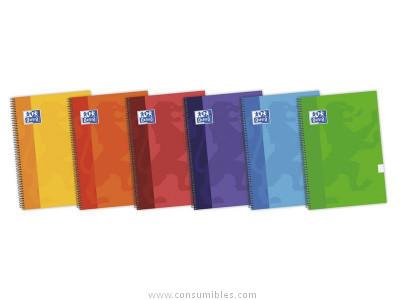 Cuadernos ENVASE DE 5 UNIDADESOXFORD CUADERNO SCHOOL 80H FOLIO LISO SURTIDO 100430159