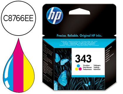 CARTUCHO DE TINTA COMPATIBLE CON HP TRICOLOR 7 ML Nº 343 EQUIVALENTE A LA REFERENCIA ORIGINAL C8766EE