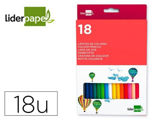 Lapices de colores LAPICES DE COLORES LIDERPAPEL C/ DE 18 COLORES