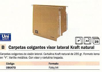 Comprar Carpetas colgantes visor lateral 096470 de Unisystem online.