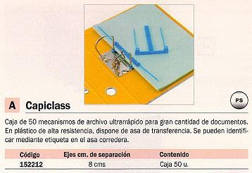 REXEL CAPICLASS 50 UD CAJA TRANFERENCIA CON ASA PLÁSTICO 9700679