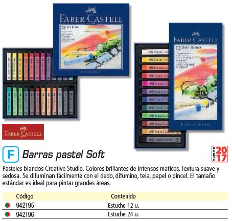 FABER CASTELL ESTUCHE 12 BARRAS SOFT PASTEL 128312