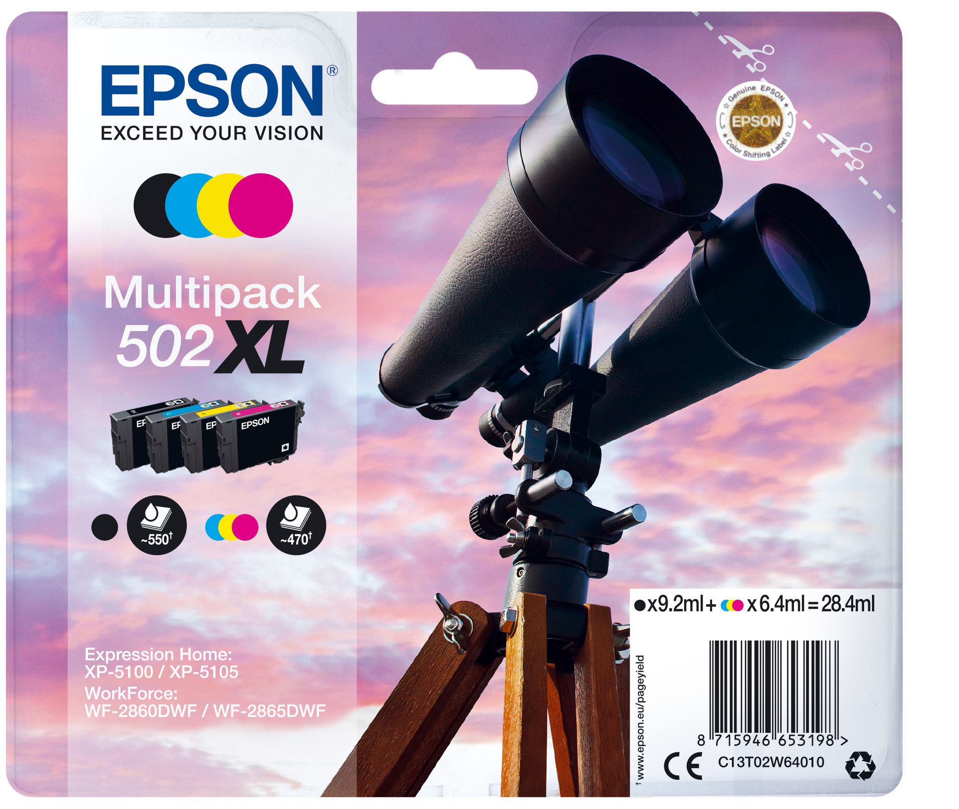 Comprar Cartucho de tinta C13T02W64020 de Epson online.
